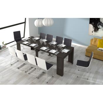 Tavolo multifunzione allungabile da 51 a 237 cm Grigio cenere