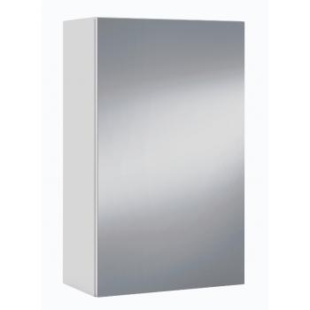 Armadietto 65 cm Bianco lucido con anta a specchio