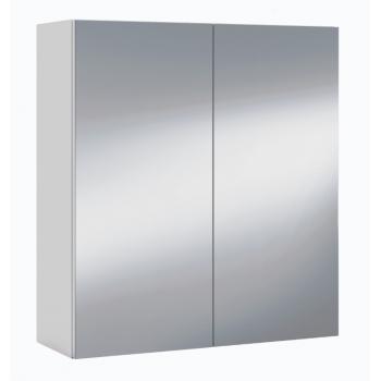 Armadietto Bagno 65 cm Bianco lucido con due ante a specchio